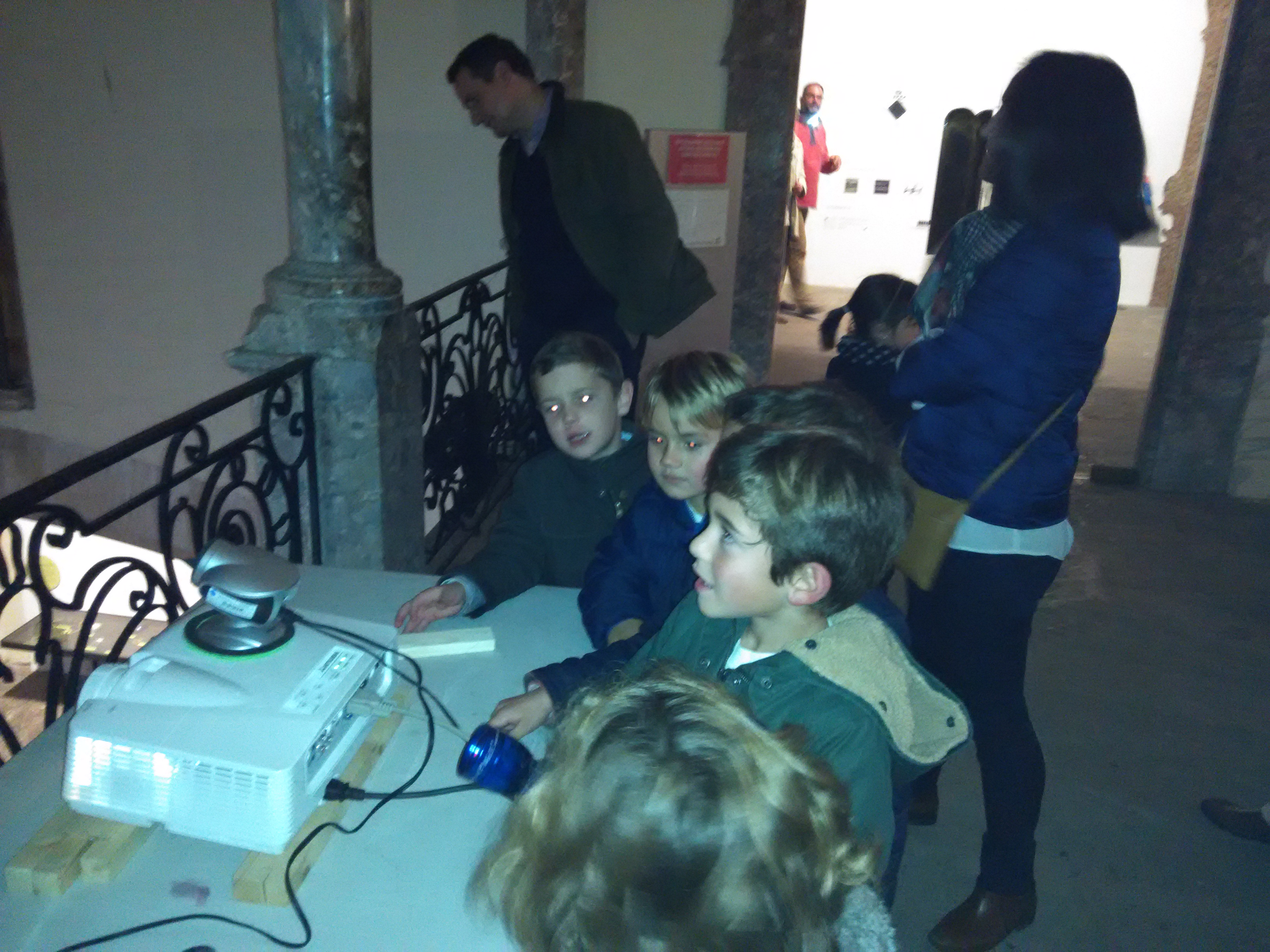 Kids visiting the Exposition